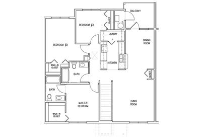 Oakridge Second Floor 3Bedroom