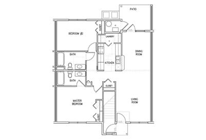 Oakridge Second Floor 2Bedroom